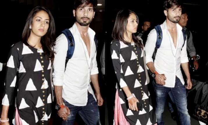 newlywed shahid kapoor mira rajput spotted hand in hand at