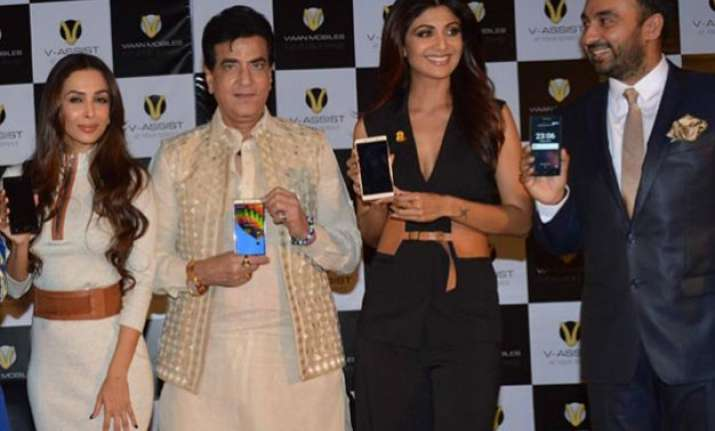 shilpa shetty and raj kundra launch viaan mobiles named