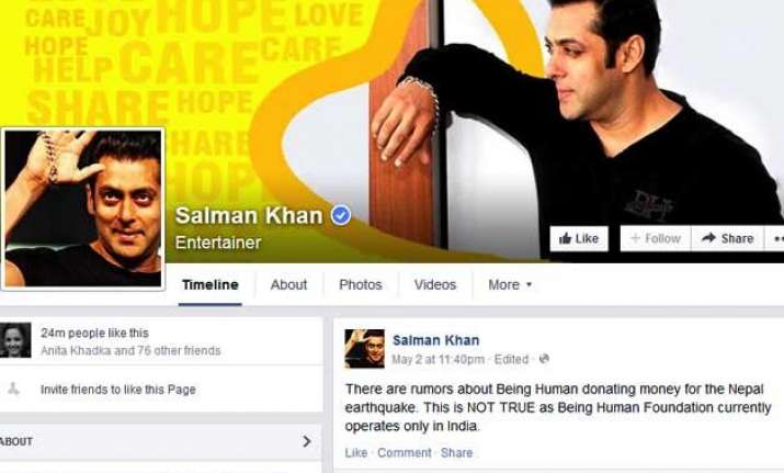 salman khan being human not donating for nepal quake victims