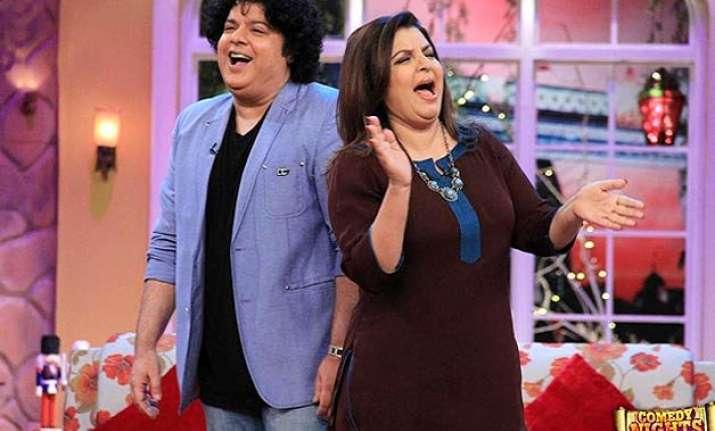comedy nights with kapil farah khan sajid khan relives