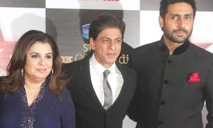 shah rukh and abhishek to join farah khan on her cookery