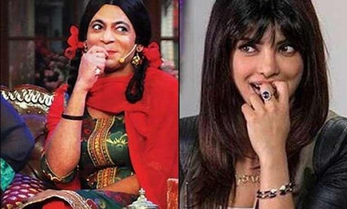 gutthi aka sunil grover s funny reply to priyanka chopra s