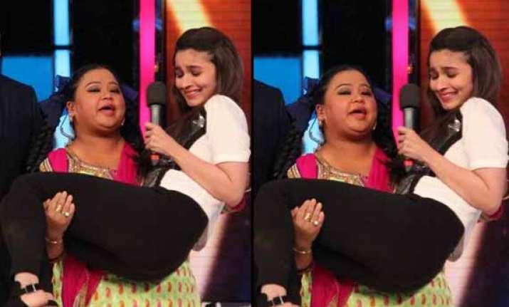 india s got talent 5 now bharti lifts alia bhatt like a
