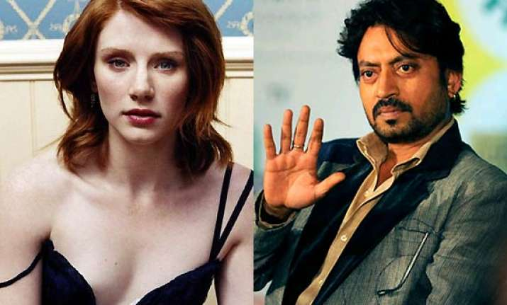 irrfan khan shoots for jurassic park with bryce dallas