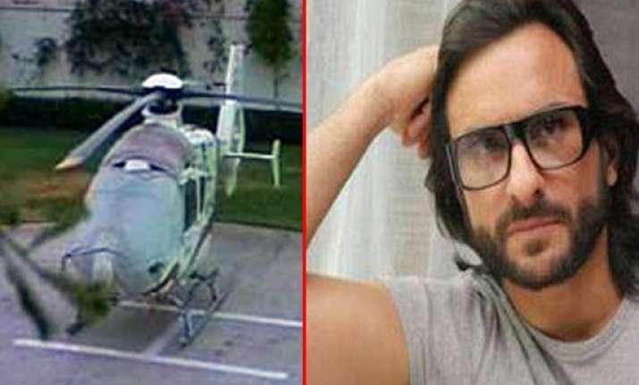 jaipur police seize chopper meant for saif ali khan s ad