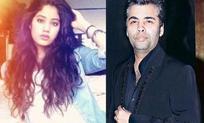 jhanvi kapoor to mark her bollywood debut with karan johar