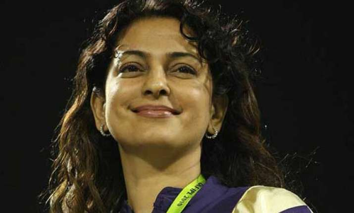 juhi chawla heads to jagannath temple after ipl win