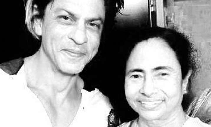 post kkr victory srk meets mamata at her residence