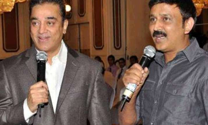 kamal haasan writing script for ramesh aravind s movie