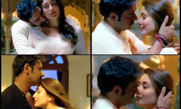 kareena kapoor and ajay devgn s intimate scenes in