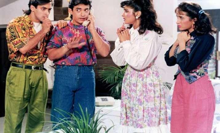 karisma raveena to be a part of andaz apna apna s sequel