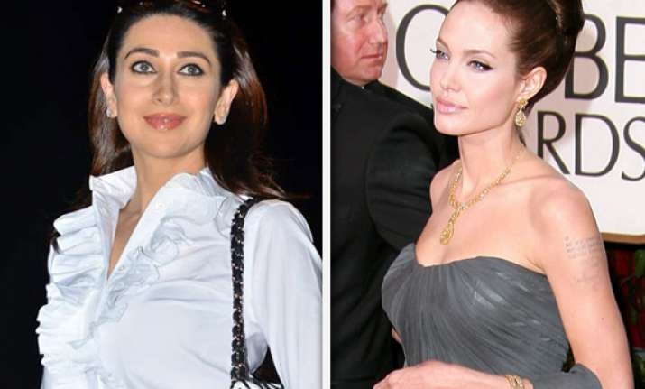 karisma says her pose is not inspired from angelina jolie s