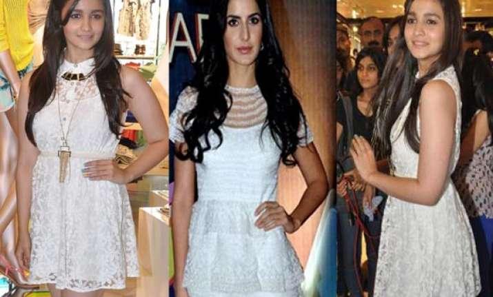 katrina alia bhatt appear wearing the same dazzling white