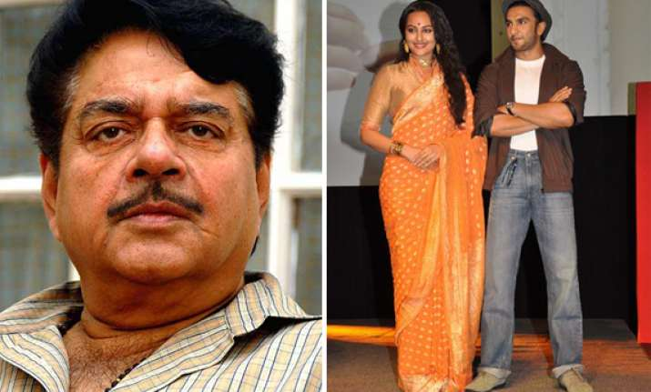 khamosh shatrughan furious over sonakshi s dating ranveer