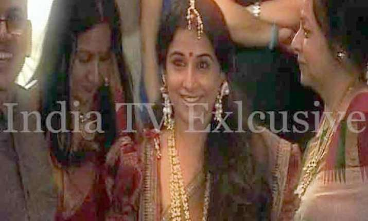 know the guest list for vidya balan s wedding