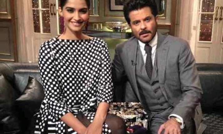 koffee with karan father daughter duo sonam and anil kapoor