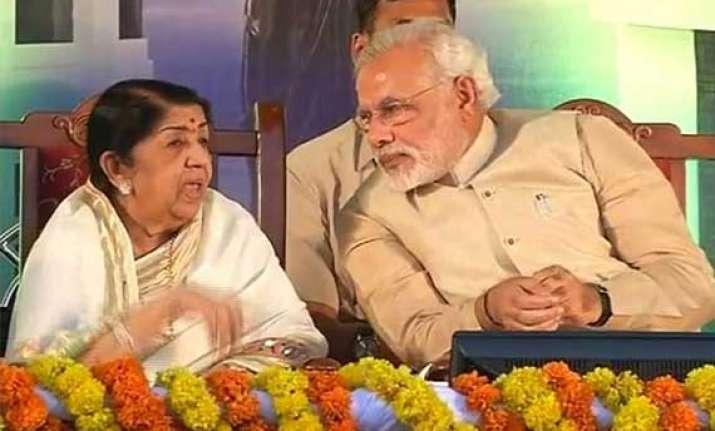 lata mangeshkar sends best wishes to narendra modi
