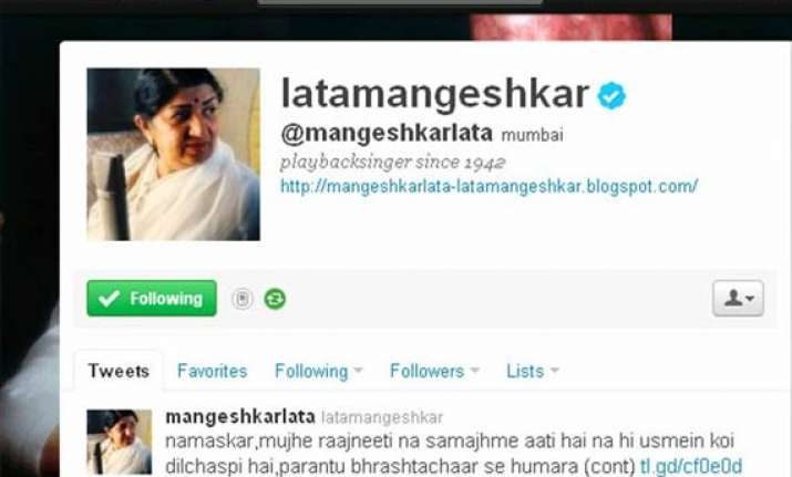 lata mangeshkar supports anna hazare