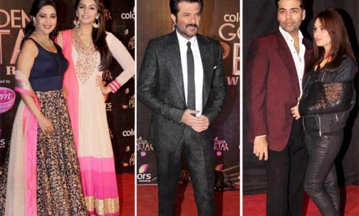 Madhuri Anil Karan Preity Attend Golden Petal Awards View Pics