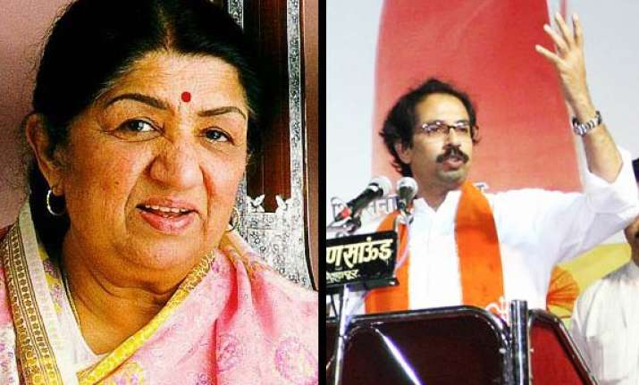 making fun of lata no laughing matter says shiv sena outfit