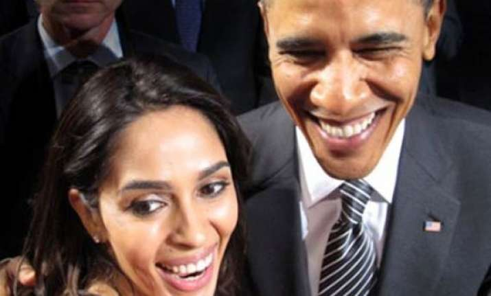 mallika has tea with obama