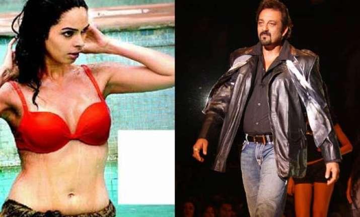 mallika wears a bikini in sanjay dutt film