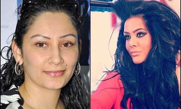 maanayata supports trishala s hair extension line see pics