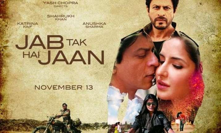 movie review jab tak hai jaan high on emotion enjoyable