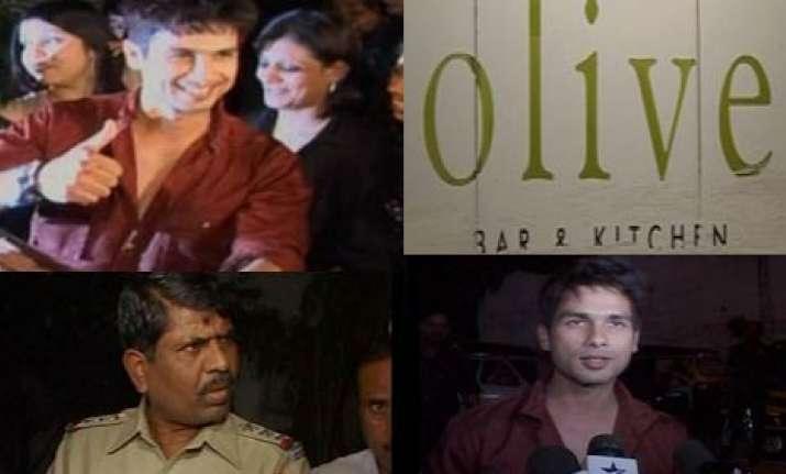 mumbai police disrupts shahid s b day party at a pub