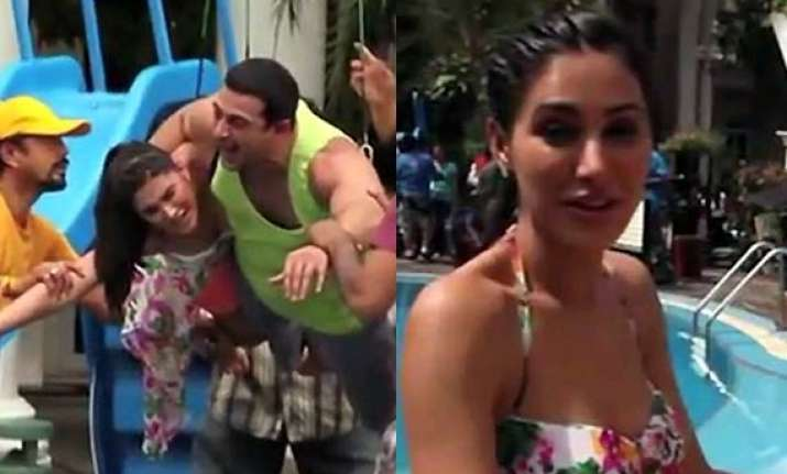 nargis fakhri caught screaming expletives in main tera hero