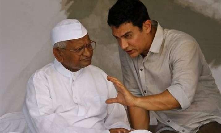 now aamir khan as anna hazare