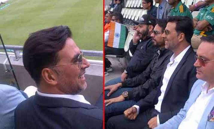 once upon a time in edgbaston...akshay kumar hits a six at