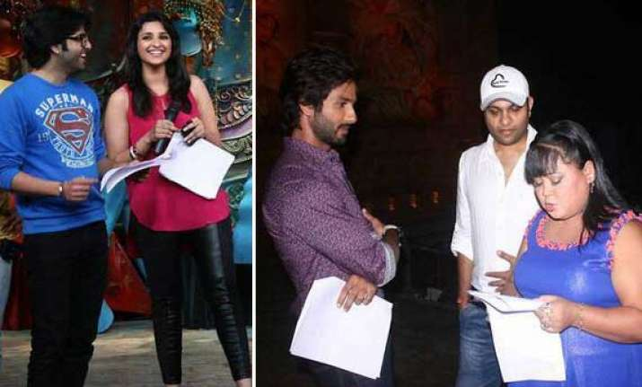 parineeti and shahid s jodi on the sets of comedy circus
