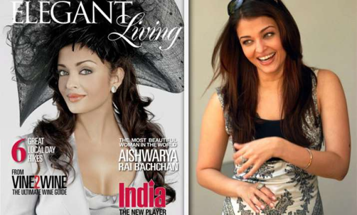 post pregnancy aishwarya appears on cover of elegant living