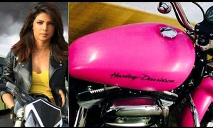 priyanka gifts herself a pink harley davidson worth rs 2