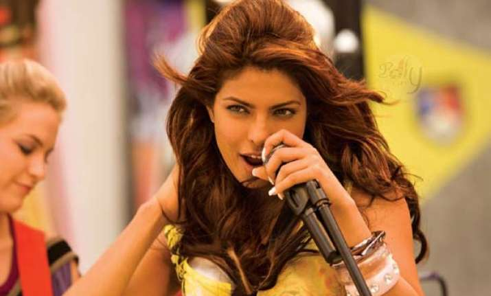 priyanka makes her international musical debut
