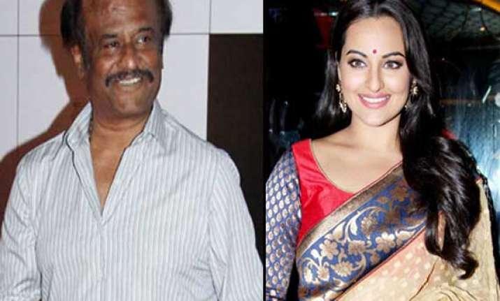 rajinikanth got nervous while shooting with sonakshi sinha