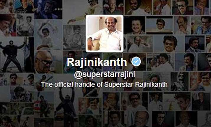 rajinikanth decided to start with twitter as i felt that