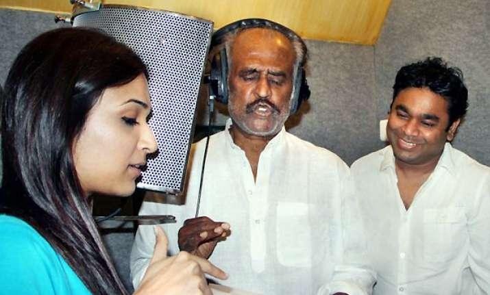 rajinikanth records a song in hindi