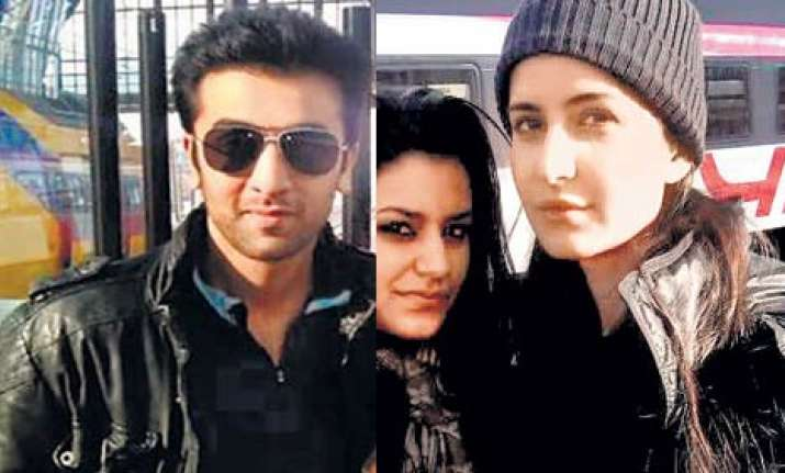 ranbir katrina spotted at an amsterdam station