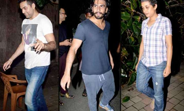 ranveer abhay spotted partying with zoya akhtar view pics