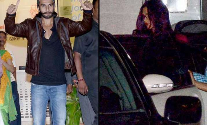 ranveer singh and deepika padukone spotted outside hospital
