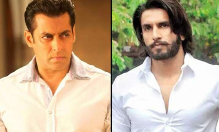 ranveer singh takes panga with salman khan view pics