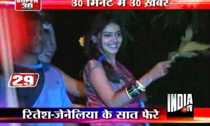 riteish weds genelia with band baaja baarat