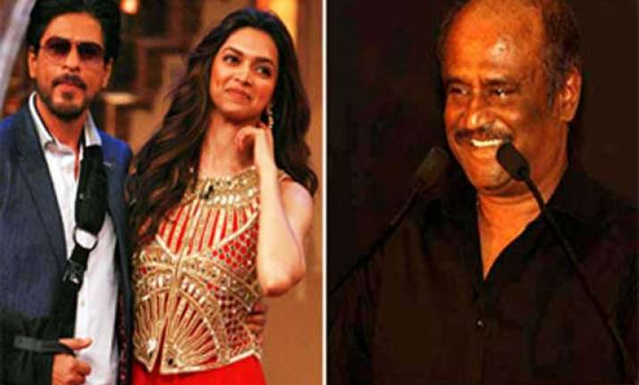 srk deepika team up for special tribute song to rajnikanth
