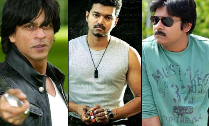 srk vijay pawan kalyan to lock horns at southern box office