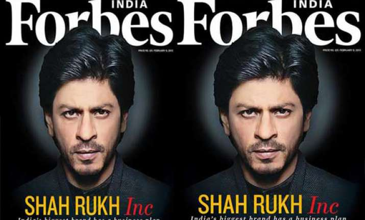 shah rukh khan covers forbes middle east