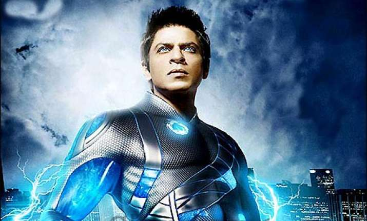 srk fulfils his wish to ride bikes with ra.one