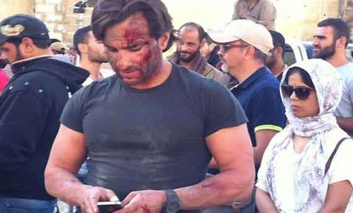 saif ali khan falls ill in beirut shooting of film with