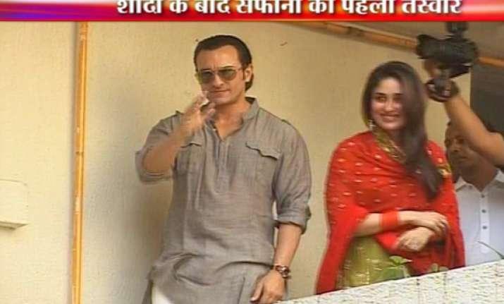saif kareena enter wedlock after 5 year courtship